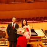 With conductor James Liu of the Wuhan Philharmonic