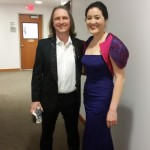 With Christoph Bull backstage